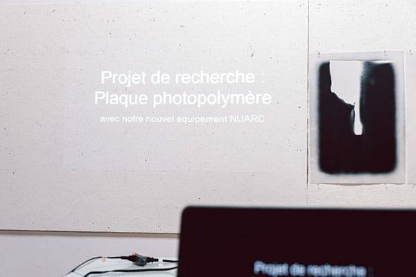 Présentation du nouvel équipement pour plaque de photopolymère